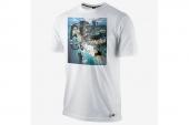 618933-100 Nike詹姆斯白色男子针织短袖T恤