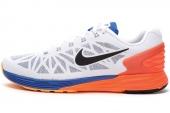 654433-101 Nike Lunarglide 6 蓝白色男子跑步鞋