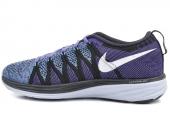 620658-500 Nike Flyknit Lunar 2 黑紫蓝色女子跑步鞋