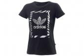 M70000 adidas Highlight Pack - Running 三叶草黑色女子针织短袖T恤
