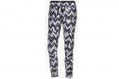M64536 adidas黑白色女子几何图案针织紧身长裤