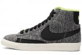 616782-100 Nike WMNS Blazer Mid Textile 黑灰色女子休闲板鞋