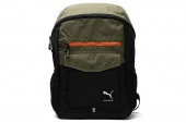 6PU07257201 Puma 黑绿色中性双肩背包