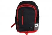 BA4857-015 Nike 黑红色中性双肩背包