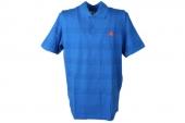 M68500 adidas Cte SS Polo P 蓝色男子条纹图案短袖Polo衫