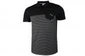 2PU82990101 Puma黑白色条纹男子针织polo衫