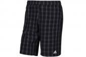 M61761 adidas黑色男子格子短裤