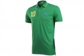 2PU56723601 Puma绿色男子针织短袖polo衫