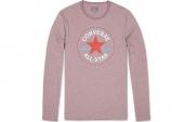 09154C648 Converse纹理棕红色男子长袖T恤