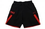 613872-017 Nike T90黑红色男子足球短裤