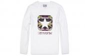09151C110 Converse白色男子长袖T恤