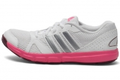 M18297 adidas Essenilal Star II 白色女子训练鞋