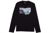 09156C001 Converse黑色男子长袖T恤
