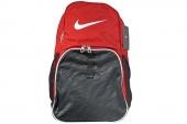 BA4718-601 Nike 黑红色中性双肩背包