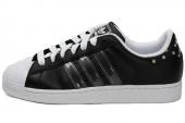 M25405 adidas Superstar II IS 三叶草贝壳头黑色男子休闲板鞋