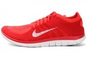631053-601 Nike Free 4.0 Flyknit 赤足系列红色男子跑步鞋
