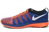 620465-802 Nike Flyknit Lunar 2 橙蓝色男子跑步鞋