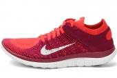 631050-616 Nike Wmns Free 4.0 Fiyknit 赤足系列红色女子跑步鞋