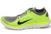 631050-007 Nike Wmns Free 4.0 Fiyknit 赤足系列灰黄色女子跑步鞋