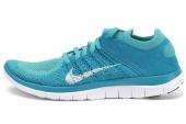 631050-314 Nike Wmns Free 4.0 Flyknit 蓝色女子跑步鞋