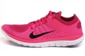 631050-601 Nike Wmns  Free 4.0 Flyknit 女子玫红色跑步鞋