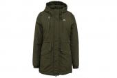 M68755 adidas墨绿色女子中长款棉衣夹克