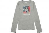 09432C035 Converse灰色女子长袖T恤