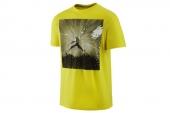 647243-703 Nike黄色男子针织短袖T恤