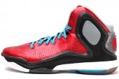 C75593 adidas D Rose 5 Boost 罗斯系列红黑色男子篮球鞋