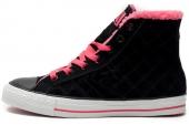 146499 Converse  Star Chevron 加绒格子纹理中性硫化鞋