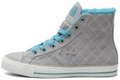 146498 Converse Star Chevron 加绒格子纹理中性硫化鞋