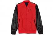 S03561 adidas Cte RV Baseball 红黑色两面穿男子棒球夹克