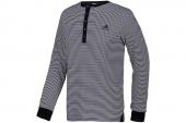 S04070 adidas黑白色条纹男子针织长袖T恤