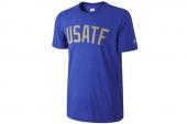625112-480 Nike深蓝色男子针织短袖T恤