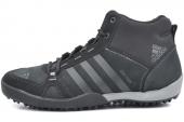 M18545 adidas Daroga Mid Lea 黑色男子户外鞋