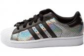 M20903 adidas Superstar 2 W 三叶草贝壳头银黑色女子休闲板鞋