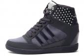 F38579 adidas WENEO Super Wedge 黑色女子内增高休闲鞋