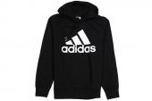 S21333 adidas Logo Hood 黑色男子针织卫衣