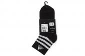 S02101 adidas 黑色中性中筒袜