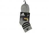 S02103 adidas灰色中性中筒袜