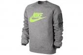 614416-091 Nike中麻灰色男子针织卫衣