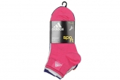 S24566 adidas Ankle Plain T6P 六对装多色女子运动袜子