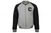 10726C035 Converse灰黑色男子棒球夹克
