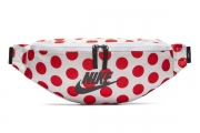 CK4287-100 Nike Sportswear Heritage 红色波点腰包